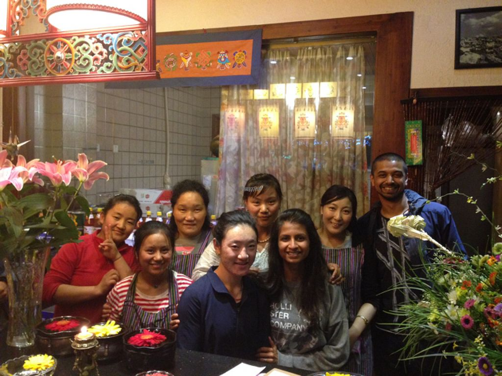 """Photo of Tse Bai Lin Vegetarian Restaurant  by <a href=""""/members/profile/priyman"""">priyman</a> <br/>selfie with the excellent staff!  <br/> August 19, 2016  - <a href='/contact/abuse/image/34759/170069'>Report</a>"""
