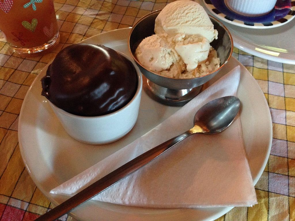 "Photo of Lastbus Works Canteen  by <a href=""/members/profile/TheBrutalVegan"">TheBrutalVegan</a> <br/>Vegan ice cream and chocolate muffin at the Lastbus Works Canteen <br/> September 13, 2015  - <a href='/contact/abuse/image/34771/117583'>Report</a>"