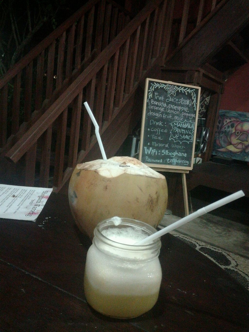 """Photo of Siboghana Waroeng  by <a href=""""/members/profile/ViktorijaGor"""">ViktorijaGor</a> <br/>Fresh coconut and pineapple/orange mixed juice <br/> October 17, 2017  - <a href='/contact/abuse/image/34780/316050'>Report</a>"""
