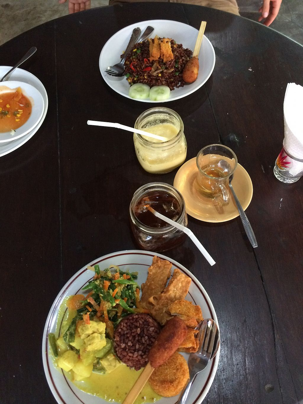 """Photo of Siboghana Waroeng  by <a href=""""/members/profile/HungryEaters"""">HungryEaters</a> <br/>Nasi campur (front), Nasi goreng (back). pineapple juice and ice tea! everything very delicious! <br/> December 3, 2017  - <a href='/contact/abuse/image/34780/331854'>Report</a>"""