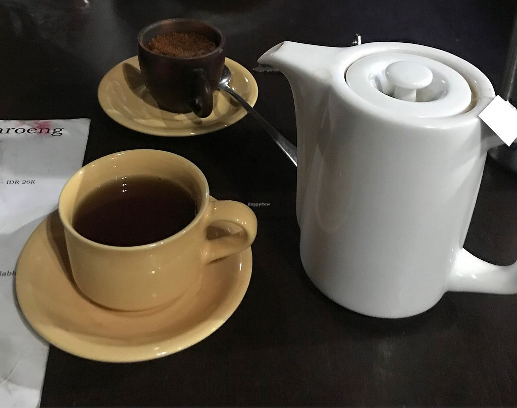 """Photo of Siboghana Waroeng  by <a href=""""/members/profile/allyandlouis"""">allyandlouis</a> <br/>Dharma tea, the best tea ever!  <br/> March 25, 2018  - <a href='/contact/abuse/image/34780/375811'>Report</a>"""