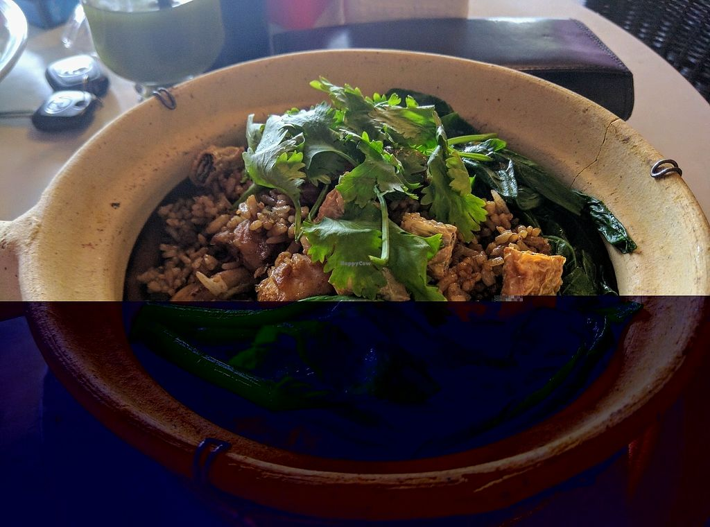 """Photo of Vegipai Cafe  by <a href=""""/members/profile/Summer_Tan"""">Summer_Tan</a> <br/> Claypot Empress Rice - RM17.90 Very flavourful - filled with succulent mushrooms, crunchy pieces of deep fried mock meat wrapped with beancurd sheets, green veg and herbs. Missing that charred bottom of the usual claypot rice. Other than that, very good <br/> January 27, 2018  - <a href='/contact/abuse/image/34787/351576'>Report</a>"""