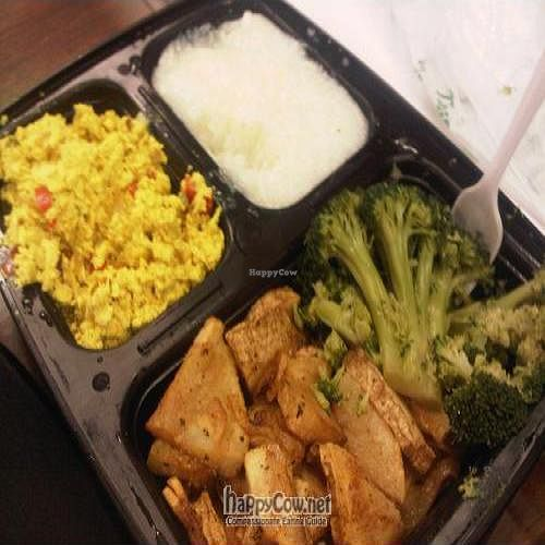 """Photo of Everlasting Life Restaurant  by <a href=""""/members/profile/ampner"""">ampner</a> <br/>broccoli, grits, tofu scramble, potatoes for breakfast (7:30 weekdays) <br/> April 12, 2011  - <a href='/contact/abuse/image/3478/8161'>Report</a>"""