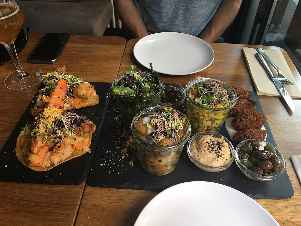 """Photo of Gratitude Restaurant  by <a href=""""/members/profile/KelseyHudspeth"""">KelseyHudspeth</a> <br/>large tapas plate for €35 <br/> July 12, 2017  - <a href='/contact/abuse/image/34817/279401'>Report</a>"""