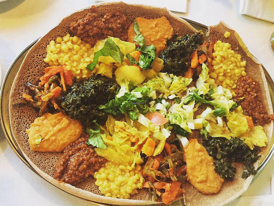 """Photo of Blue Nile Restaurant  by <a href=""""/members/profile/EC5"""">EC5</a> <br/>Vegan platter <br/> December 7, 2017  - <a href='/contact/abuse/image/34828/332977'>Report</a>"""