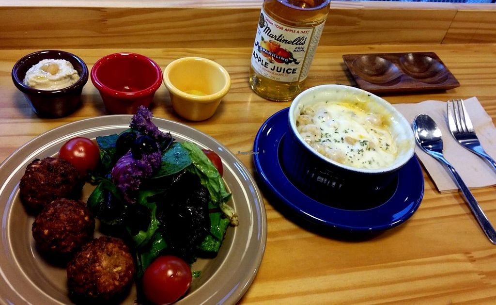 "Photo of CLOSED: Jack's Bean  by <a href=""/members/profile/Gally"">Gally</a> <br/>Falafel salad (small but very nice) and garlic chickpea mashed potatoes covered in a thick layer of melted cheese <br/> July 19, 2015  - <a href='/contact/abuse/image/34837/109984'>Report</a>"