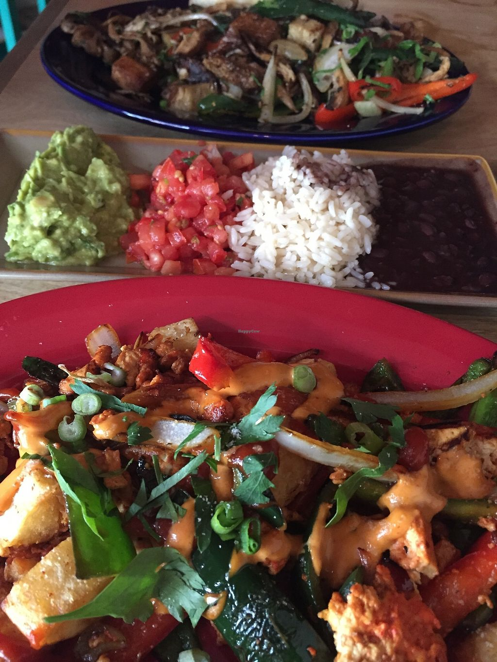 "Photo of Dos Segundos Cantina  by <a href=""/members/profile/A.Potter"">A.Potter</a> <br/>Tofu scramble, seitan & smoked tofu fajitas, and all the fajita accompaniments.   <br/> July 8, 2017  - <a href='/contact/abuse/image/34844/277746'>Report</a>"