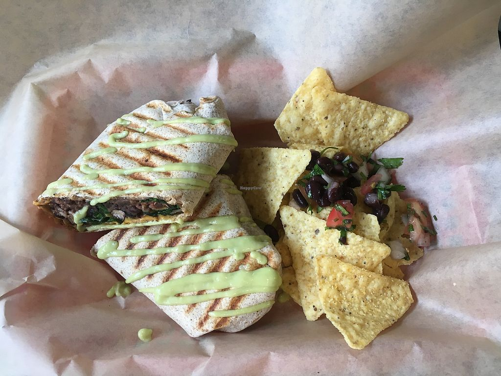 """Photo of VO2 Vegan Cafe  by <a href=""""/members/profile/770veg"""">770veg</a> <br/>Breaky burrito! <br/> March 21, 2018  - <a href='/contact/abuse/image/34862/373916'>Report</a>"""