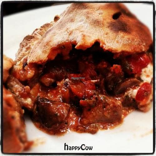 """Photo of CLOSED: Garden Grill Cafe  by <a href=""""/members/profile/PatHandley"""">PatHandley</a> <br/>Eggplant, Mushroom, Artichoke and Vegan Ricotta Cheese Calzone <br/> October 30, 2012  - <a href='/contact/abuse/image/34869/39597'>Report</a>"""