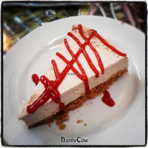 """Photo of CLOSED: Garden Grill Cafe  by <a href=""""/members/profile/PatHandley"""">PatHandley</a> <br/>Vegan Cheesecake with Raspberry Sauce <br/> October 30, 2012  - <a href='/contact/abuse/image/34869/39598'>Report</a>"""