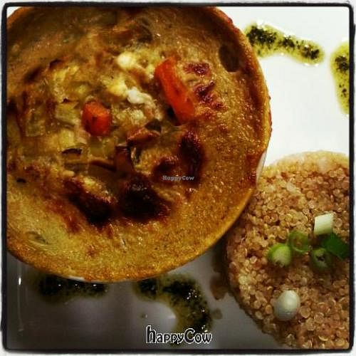 """Photo of CLOSED: Garden Grill Cafe  by <a href=""""/members/profile/PatHandley"""">PatHandley</a> <br/>Vegan Butternut Squash au Gratin with Quinua Pilaf <br/> October 30, 2012  - <a href='/contact/abuse/image/34869/39599'>Report</a>"""