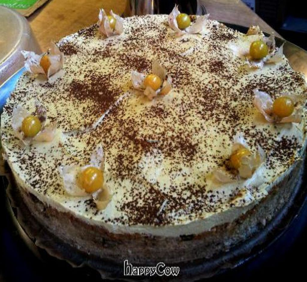 """Photo of Mahemarket and Cafe  by <a href=""""/members/profile/KrisVeinberg"""">KrisVeinberg</a> <br/>Raw apple-carrot cake <br/> October 24, 2012  - <a href='/contact/abuse/image/34916/237736'>Report</a>"""