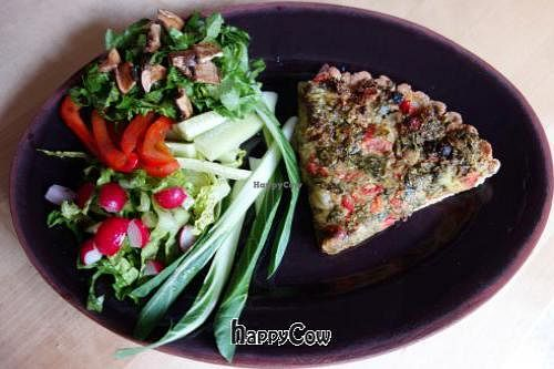"""Photo of Mahemarket and Cafe  by <a href=""""/members/profile/Gudrun"""">Gudrun</a> <br/>Vegan quiche @ Mahemarket Cafe <br/> June 22, 2013  - <a href='/contact/abuse/image/34916/49947'>Report</a>"""