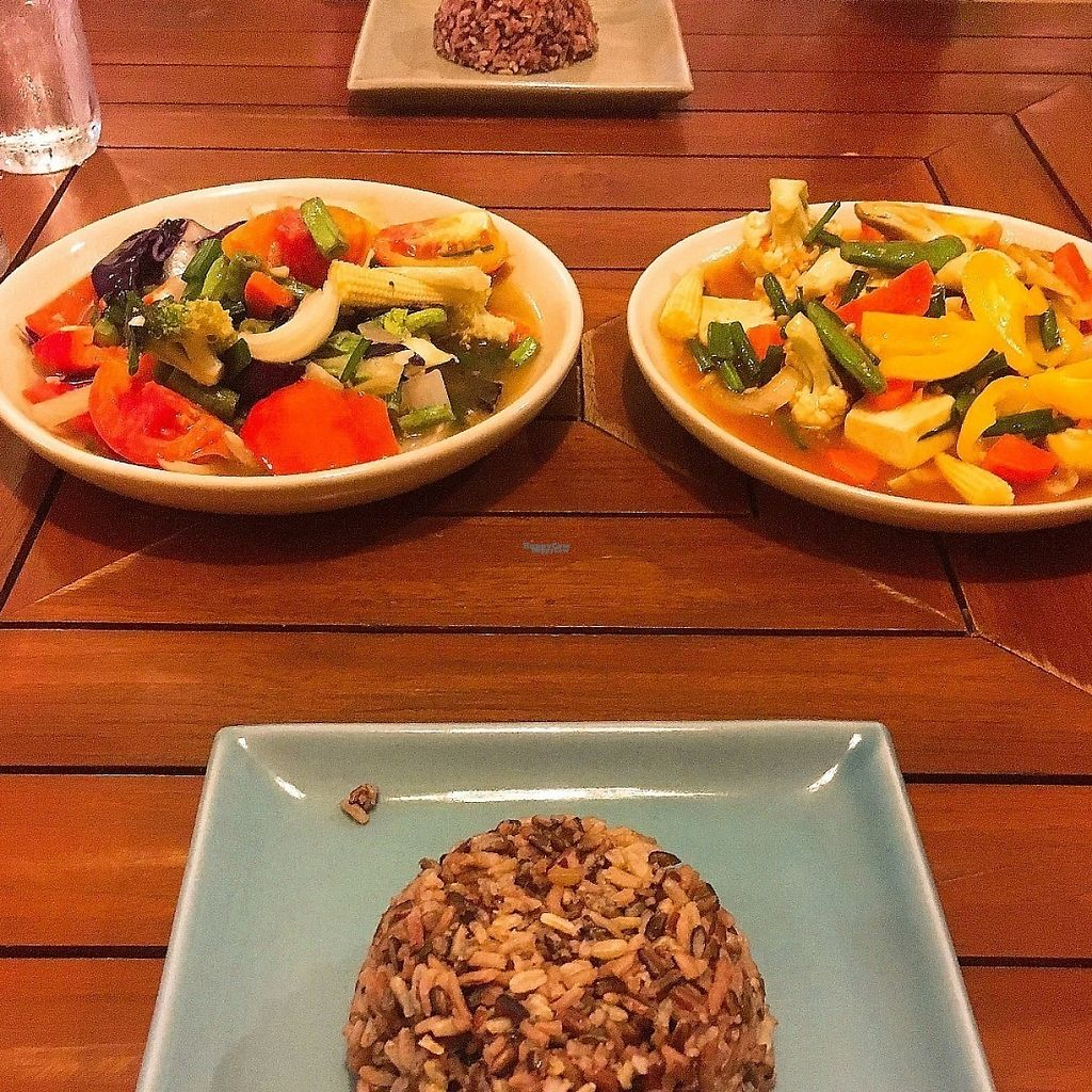 "Photo of Anchan Vegetarian Restaurant  by <a href=""/members/profile/doughnads"">doughnads</a> <br/>Amazing stir fry's with red rice <br/> December 24, 2016  - <a href='/contact/abuse/image/34920/204407'>Report</a>"