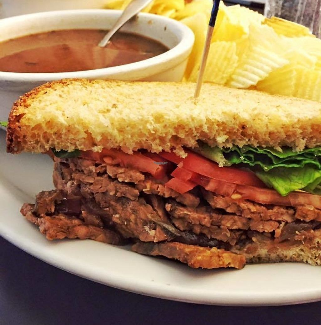 """Photo of The Catalyst Cafe  by <a href=""""/members/profile/J%20and%20J"""">J and J</a> <br/>vegan tempeh sandwich <br/> September 5, 2016  - <a href='/contact/abuse/image/34926/207394'>Report</a>"""