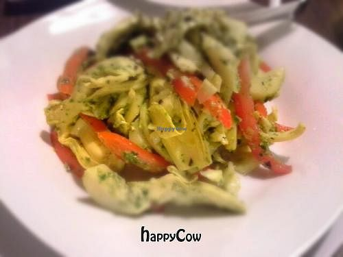 """Photo of CLOSED: Tapa That  by <a href=""""/members/profile/JessinJax"""">JessinJax</a> <br/>Vegan Mediterranean Salad (hearts of palm, artichokes and tomatoes in Vegan pesto sauce) <br/> October 27, 2012  - <a href='/contact/abuse/image/34946/39504'>Report</a>"""