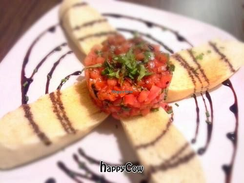 """Photo of CLOSED: Tapa That  by <a href=""""/members/profile/JessinJax"""">JessinJax</a> <br/>Bruschetta with Balsalmic Reduction (Vegans ask for no Feta) <br/> October 27, 2012  - <a href='/contact/abuse/image/34946/39505'>Report</a>"""