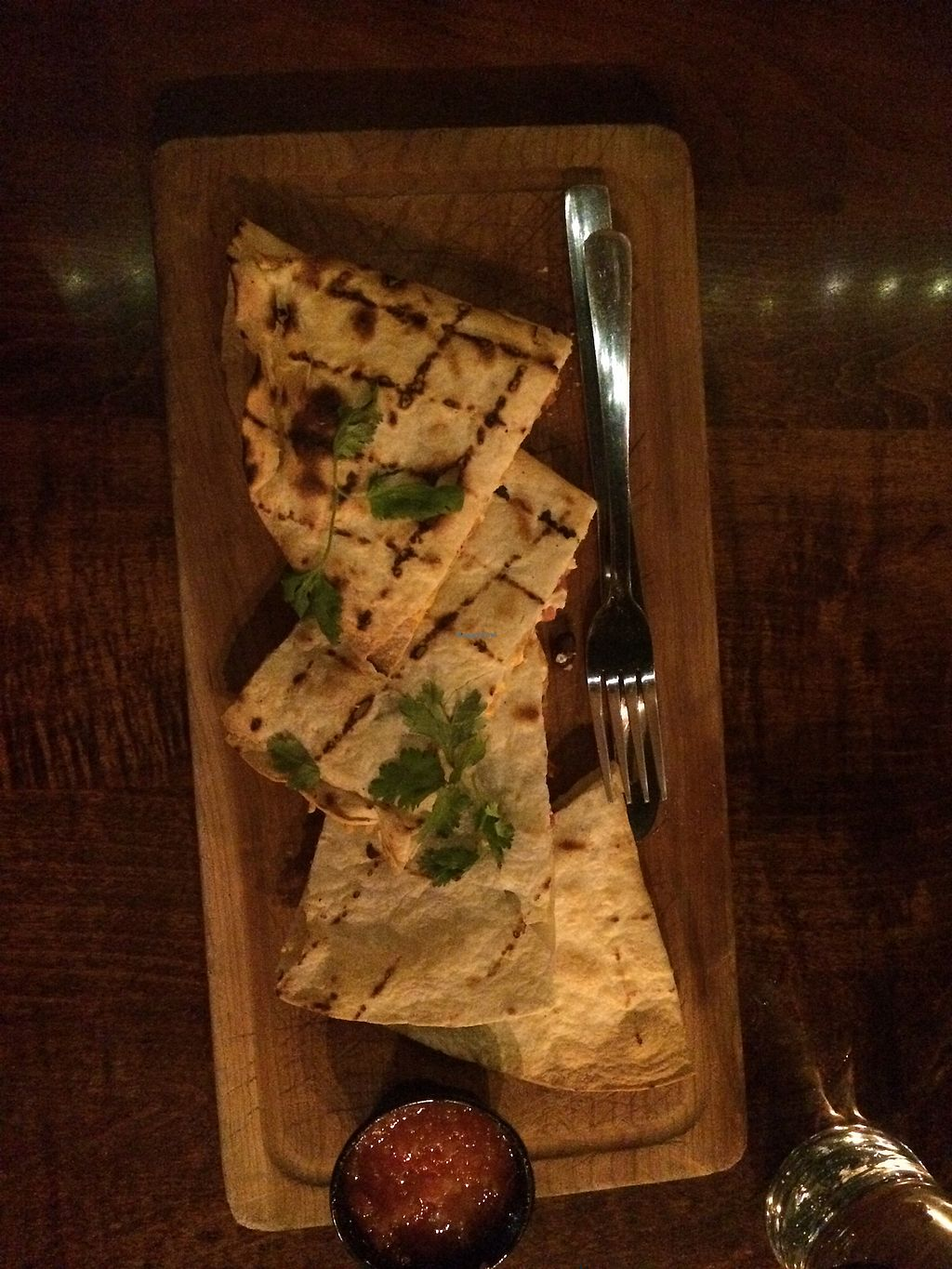 """Photo of Merchant Ale House  by <a href=""""/members/profile/fruitiJulie"""">fruitiJulie</a> <br/>Quesadilla with vegan cheese <br/> December 9, 2017  - <a href='/contact/abuse/image/34949/333745'>Report</a>"""