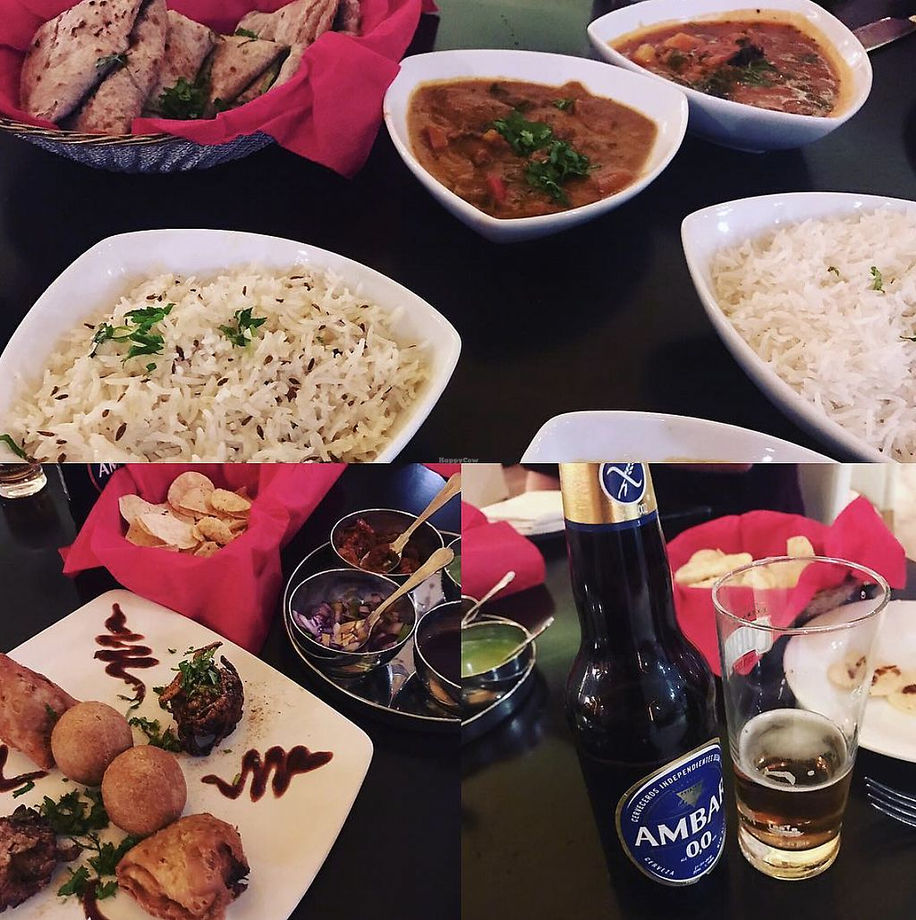 """Photo of Namaste India  by <a href=""""/members/profile/TheAccessibleVegan"""">TheAccessibleVegan</a> <br/>Rice and curry <br/> August 8, 2017  - <a href='/contact/abuse/image/34973/290534'>Report</a>"""