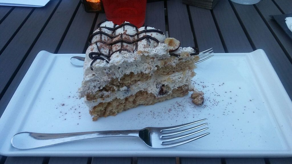 "Photo of Veganima  by <a href=""/members/profile/Silvia82"">Silvia82</a> <br/>Vegan hazelnut cake at Veganima <br/> July 7, 2017  - <a href='/contact/abuse/image/34979/277444'>Report</a>"