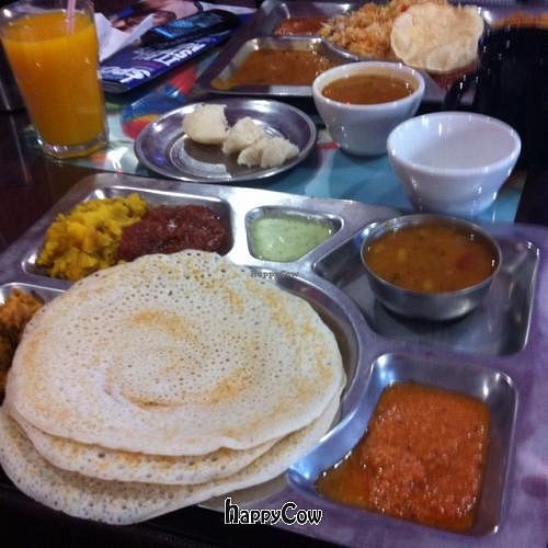 """Photo of South Indian Dosa Mahal  by <a href=""""/members/profile/Meowmeow"""">Meowmeow</a> <br/>4 piece dosa meal <br/> June 12, 2013  - <a href='/contact/abuse/image/35016/49498'>Report</a>"""