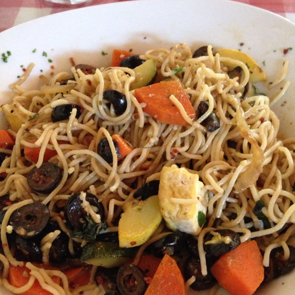 """Photo of CLOSED: Wiley's World Pasta Shoppe and Eatery  by <a href=""""/members/profile/Lisa_103"""">Lisa_103</a> <br/>roasted olive toss with tofu  <br/> April 30, 2016  - <a href='/contact/abuse/image/35018/146879'>Report</a>"""