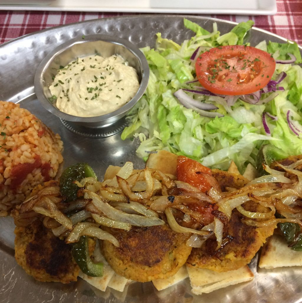 """Photo of Smyrna Mediterranean Cuisine  by <a href=""""/members/profile/DNice88"""">DNice88</a> <br/>veggie kofte platter <br/> October 30, 2016  - <a href='/contact/abuse/image/35023/185391'>Report</a>"""