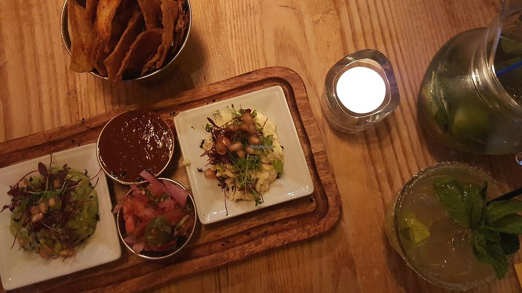 """Photo of The Mex  by <a href=""""/members/profile/VeganAnnaS"""">VeganAnnaS</a> <br/>The veggie-vegan starter <br/> October 14, 2017  - <a href='/contact/abuse/image/35026/315109'>Report</a>"""