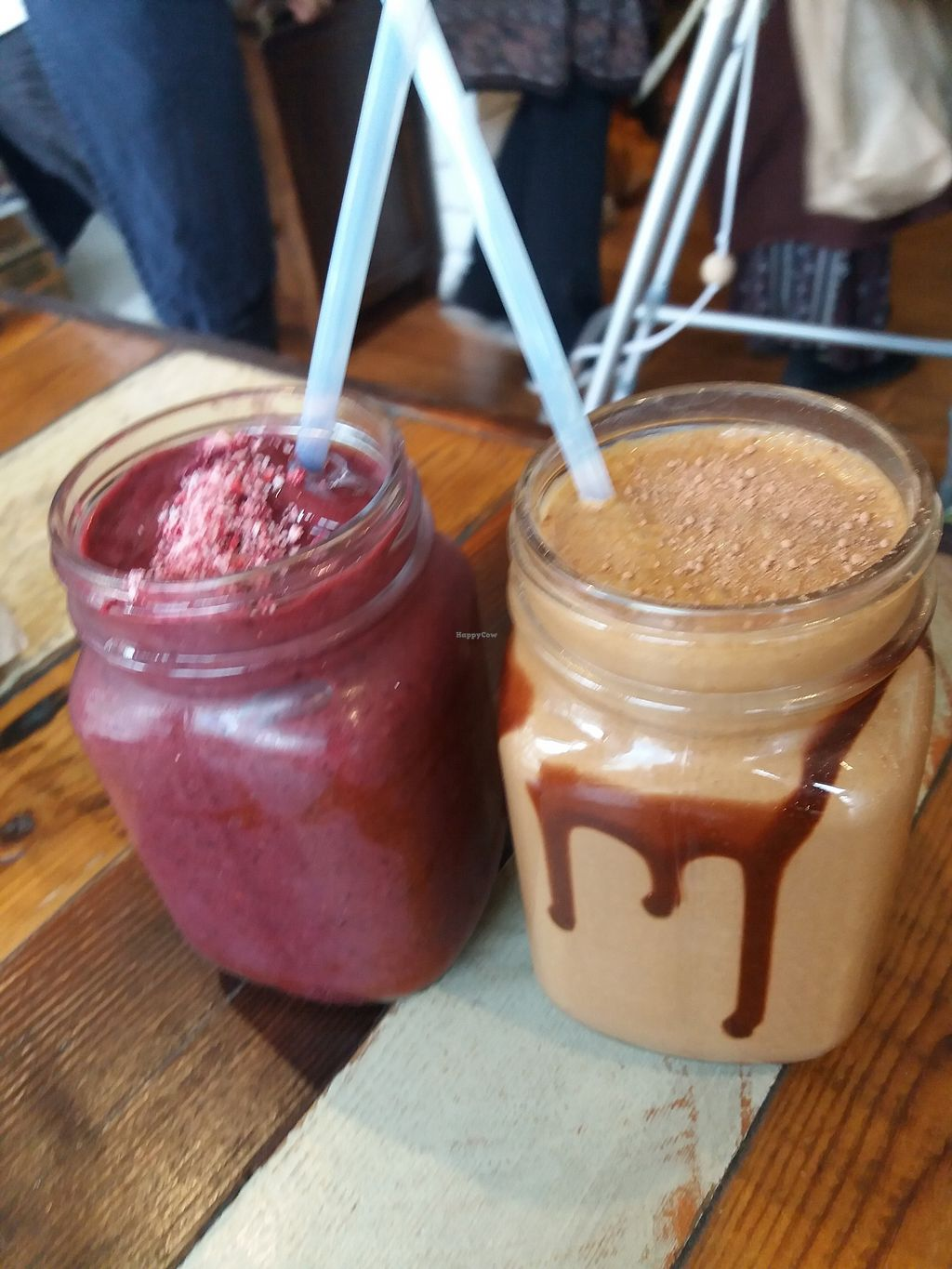 "Photo of Earth to Table  by <a href=""/members/profile/veganvirtues"">veganvirtues</a> <br/>A berry and a cacoa smoothie <br/> October 25, 2017  - <a href='/contact/abuse/image/35045/318835'>Report</a>"