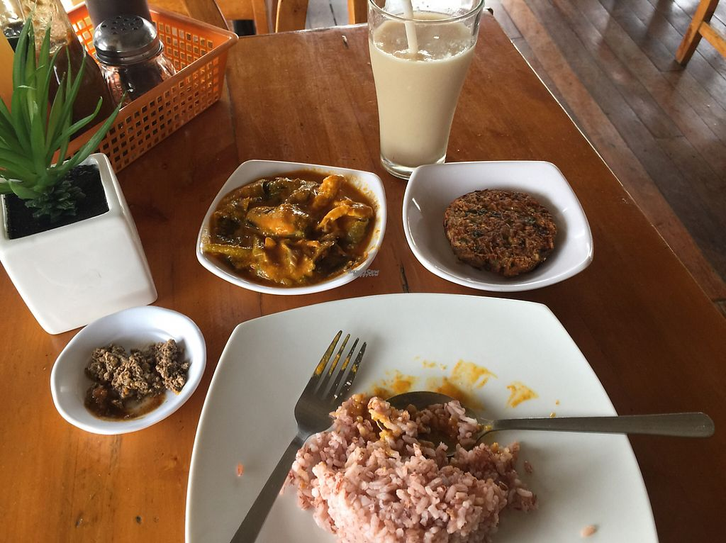"""Photo of Blissful Belly Vegetarian Cuisine  by <a href=""""/members/profile/Theauberginebabe"""">Theauberginebabe</a> <br/>happy tummy w/ guyabano smoothie ? <br/> March 5, 2017  - <a href='/contact/abuse/image/3504/232818'>Report</a>"""