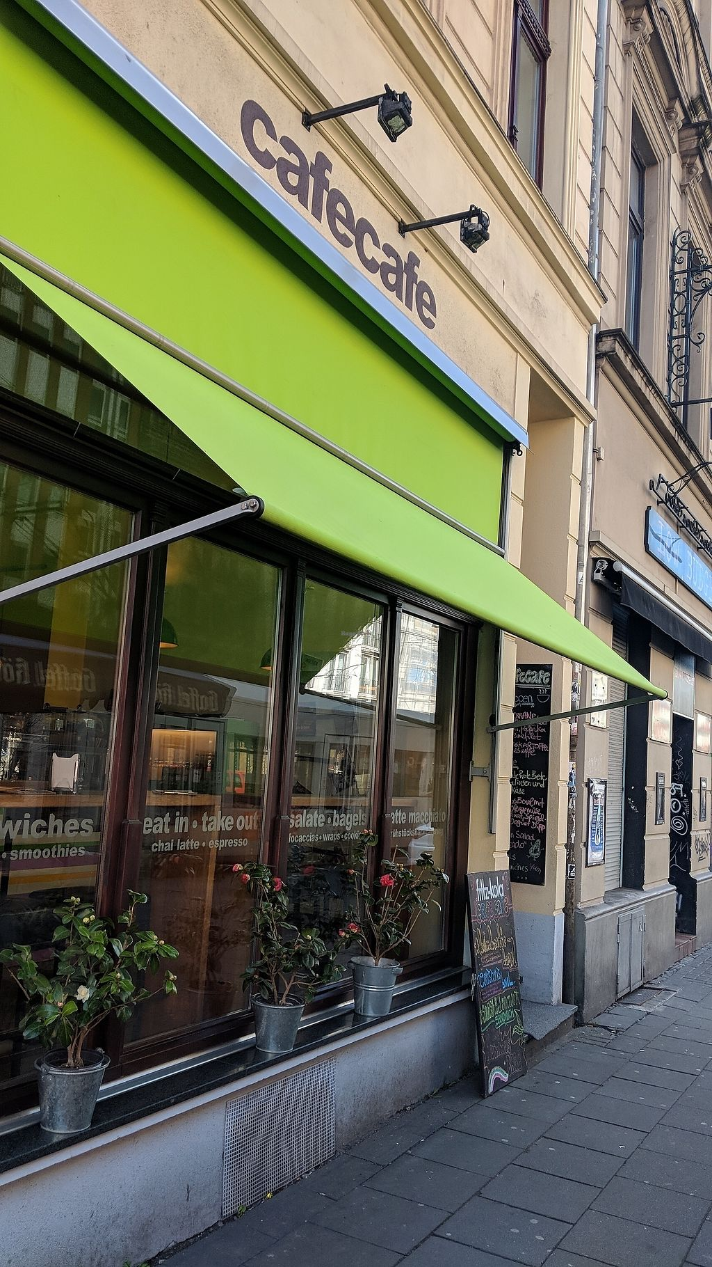 """Photo of CafeCafe Ehrenfeld  by <a href=""""/members/profile/Veganbeanstalk"""">Veganbeanstalk</a> <br/>cafecafe <br/> March 31, 2018  - <a href='/contact/abuse/image/35064/378777'>Report</a>"""
