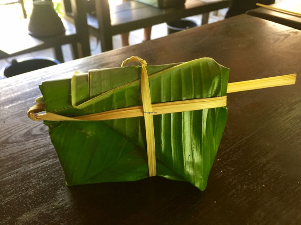 """Photo of Tamarind - A Taste of Laos  by <a href=""""/members/profile/Gillsabroad"""">Gillsabroad</a> <br/>mushrooms in banana leaf ready to bake  <br/> July 26, 2016  - <a href='/contact/abuse/image/35117/162359'>Report</a>"""