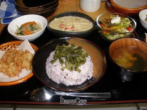 """Photo of Nikoniko Restaurant  by <a href=""""/members/profile/oriental%20smily%20veg"""">oriental smily veg</a> <br/>vegan thai green curry set <br/> November 6, 2012  - <a href='/contact/abuse/image/35145/39928'>Report</a>"""