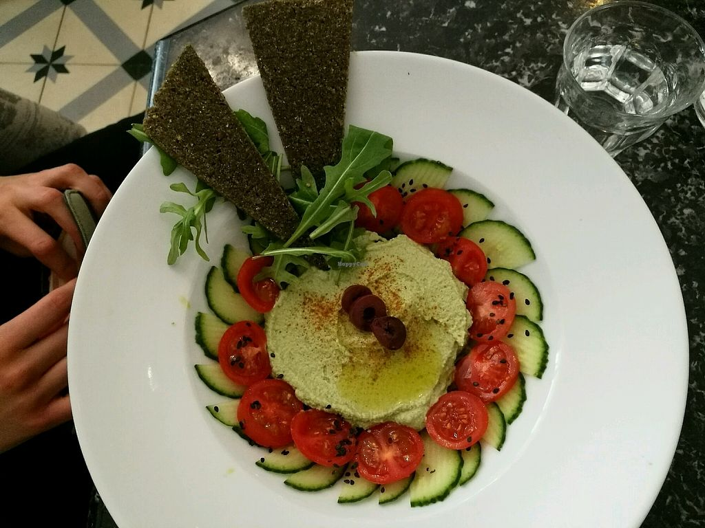 """Photo of Simply Raw Bakery and Bistro  by <a href=""""/members/profile/LucieGaspari"""">LucieGaspari</a> <br/>Zucchini humus <br/> April 4, 2018  - <a href='/contact/abuse/image/35149/380615'>Report</a>"""