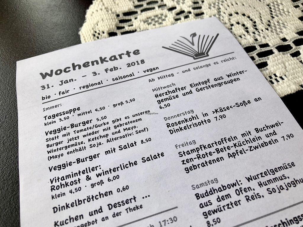 """Photo of Lesecafe Anstandig essen  by <a href=""""/members/profile/marky_mark"""">marky_mark</a> <br/>menu <br/> February 2, 2018  - <a href='/contact/abuse/image/35157/354072'>Report</a>"""