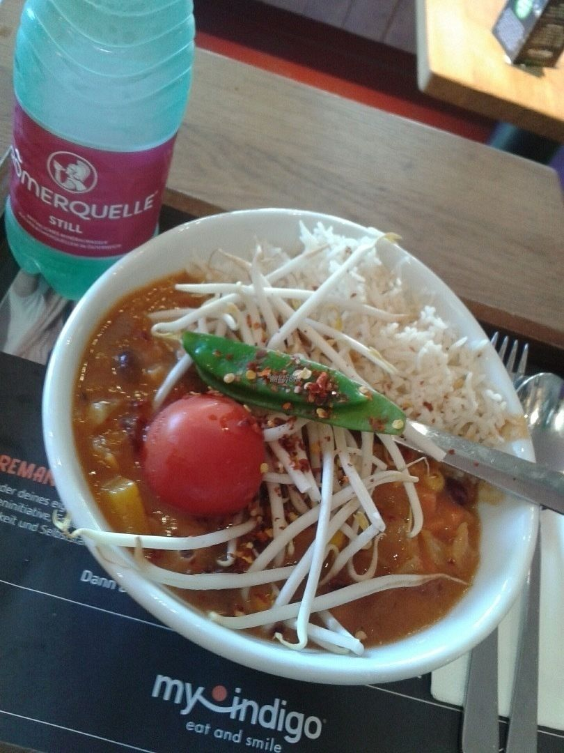 """Photo of My Indigo  by <a href=""""/members/profile/danceintherain"""">danceintherain</a> <br/>African Peanut Pot with Rice @MyIndigo in Salzburg <br/> September 11, 2016  - <a href='/contact/abuse/image/35164/175123'>Report</a>"""