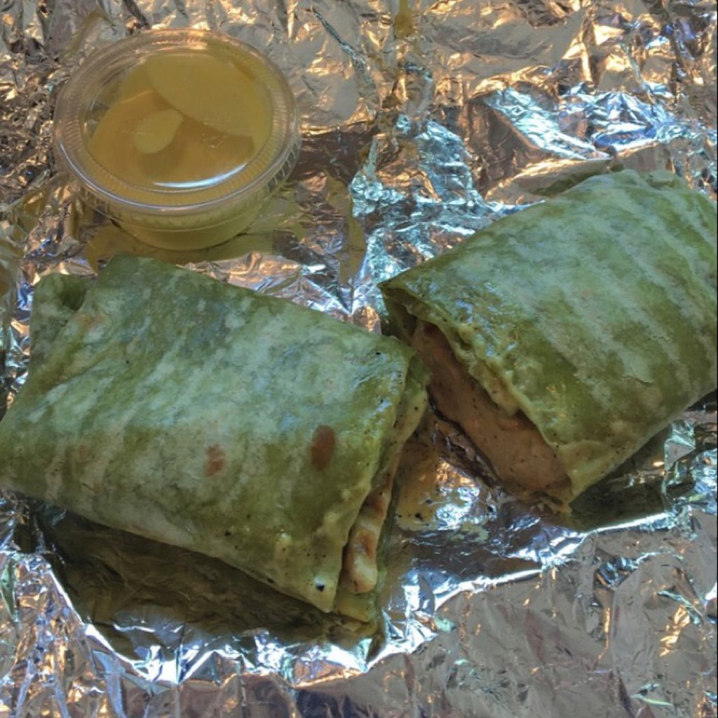 """Photo of Blossom Du Jour - Midtown  by <a href=""""/members/profile/Thepennsyltuckyvegan"""">Thepennsyltuckyvegan</a> <br/>The Benedict Wrap w/ extra sauce <br/> July 24, 2016  - <a href='/contact/abuse/image/35196/161827'>Report</a>"""