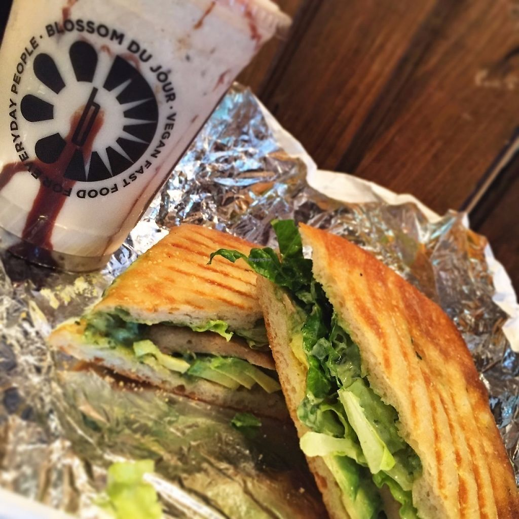 """Photo of Blossom Du Jour - Midtown  by <a href=""""/members/profile/MeganGriffith"""">MeganGriffith</a> <br/>The un-chicken avocado griller is amazing, but the Butterfinger shake stole the show! <br/> May 21, 2017  - <a href='/contact/abuse/image/35196/261097'>Report</a>"""