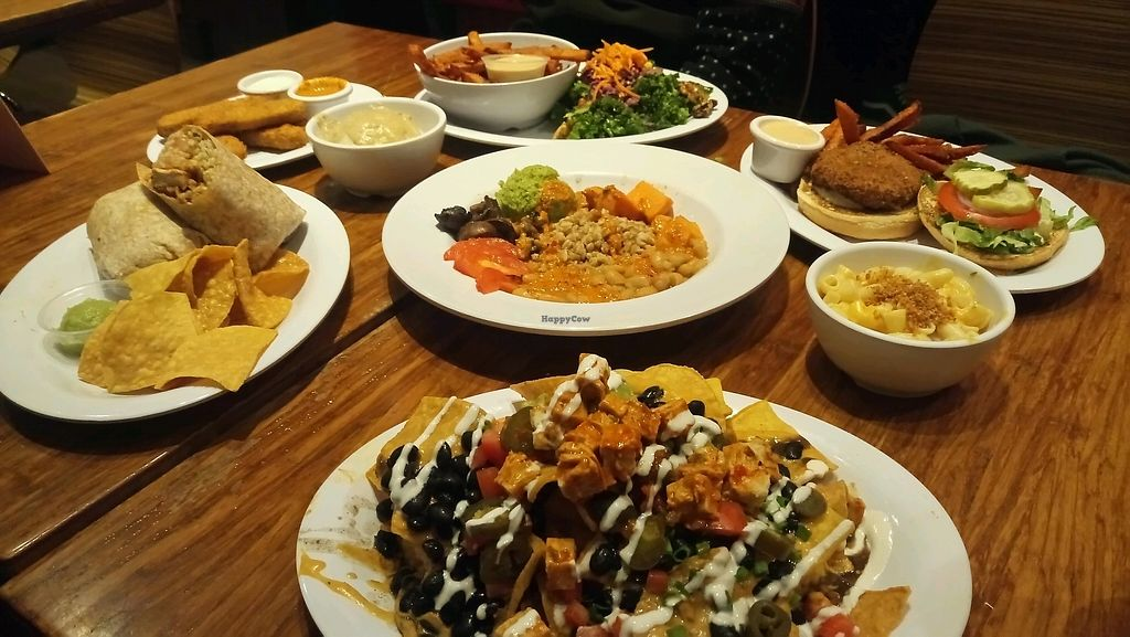 "Photo of Veggie Grill - Santana Row  by <a href=""/members/profile/clam7"">clam7</a> <br/>Table free of dairy and meats and full of love ?  <br/> October 1, 2017  - <a href='/contact/abuse/image/35203/310653'>Report</a>"