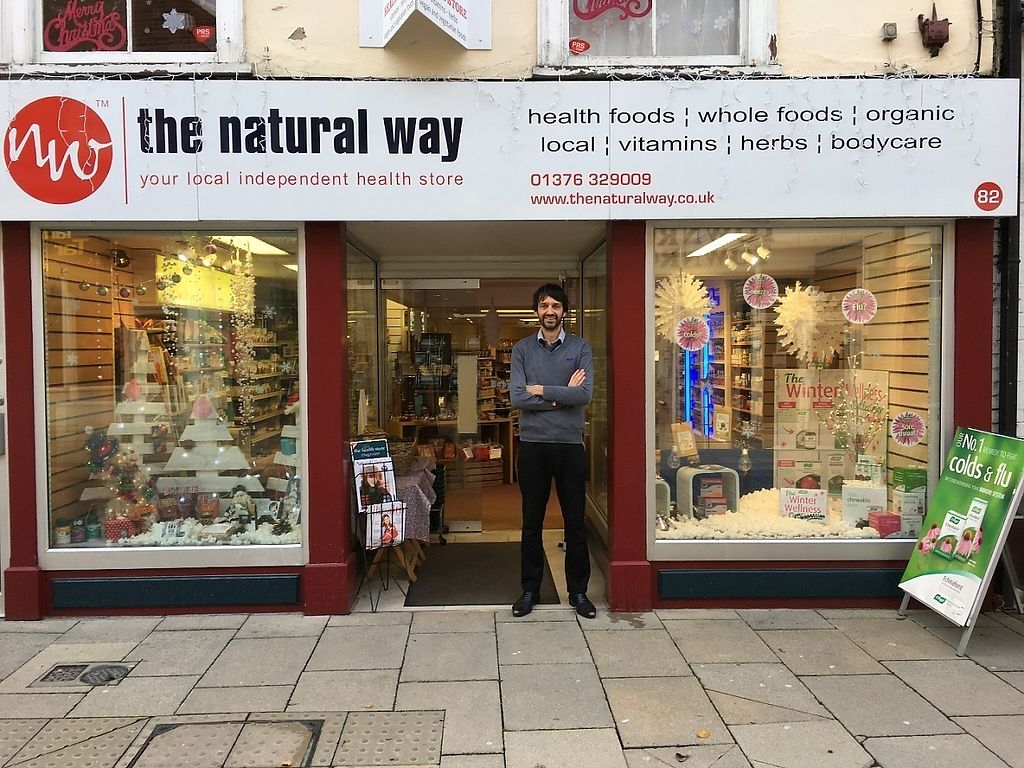 """Photo of The Natural Way  by <a href=""""/members/profile/thenaturalway"""">thenaturalway</a> <br/>Front of the natural way, with owner Richard outside <br/> May 18, 2017  - <a href='/contact/abuse/image/35216/260012'>Report</a>"""