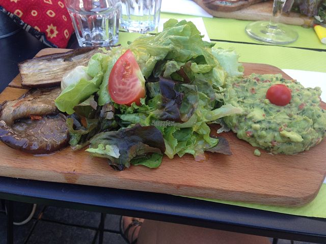 """Photo of Pain and Cie  by <a href=""""/members/profile/Kyttiara"""">Kyttiara</a> <br/>""""Planche"""" of the day with avocado tartare grilled aubergine, artichoke and a big salad. comes with sourdough break <br/> September 7, 2016  - <a href='/contact/abuse/image/35239/174107'>Report</a>"""