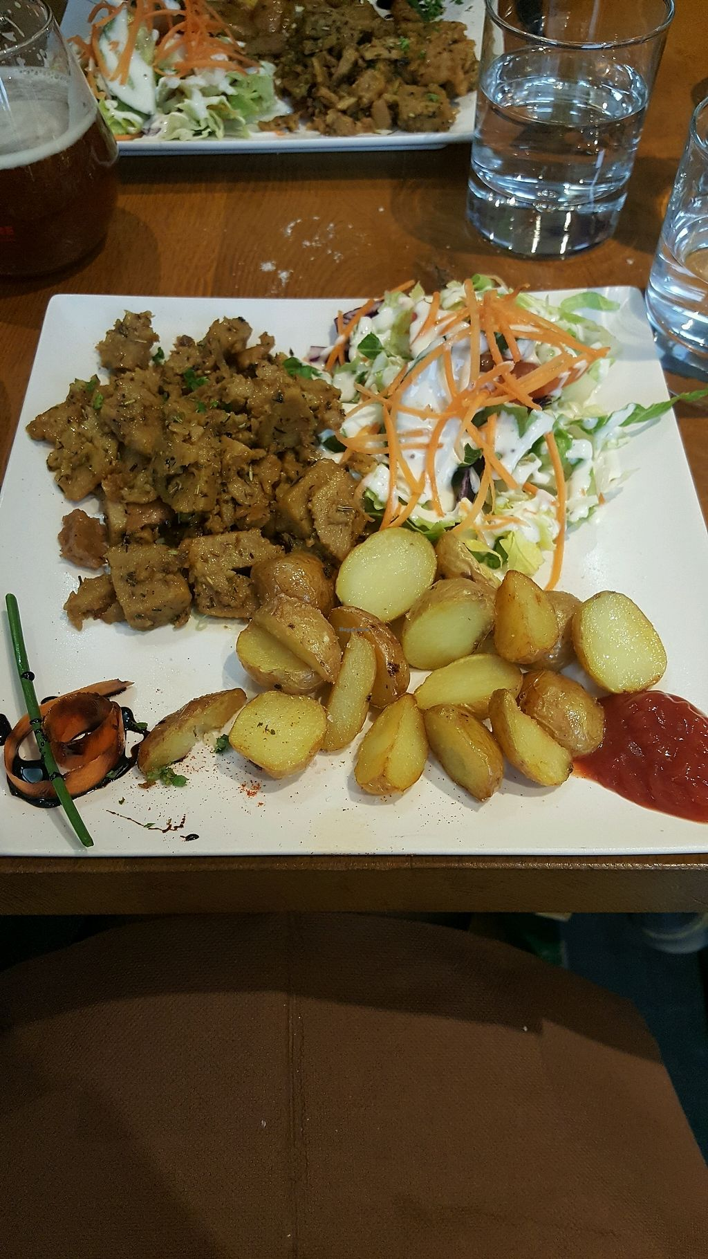 """Photo of Le Grenier de Notre Dame  by <a href=""""/members/profile/NicNewbs"""">NicNewbs</a> <br/>lovely vegan kebab special <br/> April 6, 2018  - <a href='/contact/abuse/image/3523/381565'>Report</a>"""