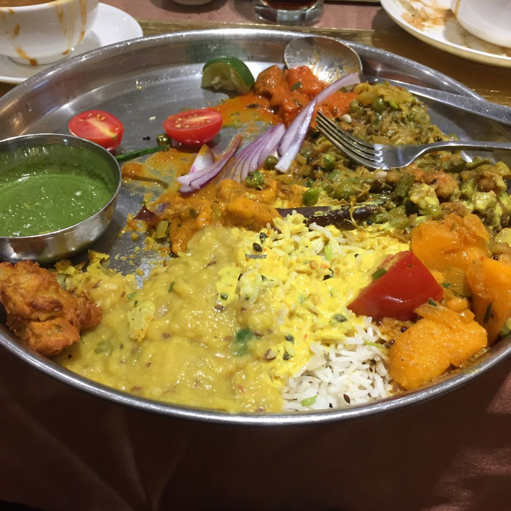 """Photo of Zaikaa  by <a href=""""/members/profile/vegannomad2"""">vegannomad2</a> <br/>buffet with lots of options - all vegetarian <br/> November 28, 2016  - <a href='/contact/abuse/image/35249/195353'>Report</a>"""