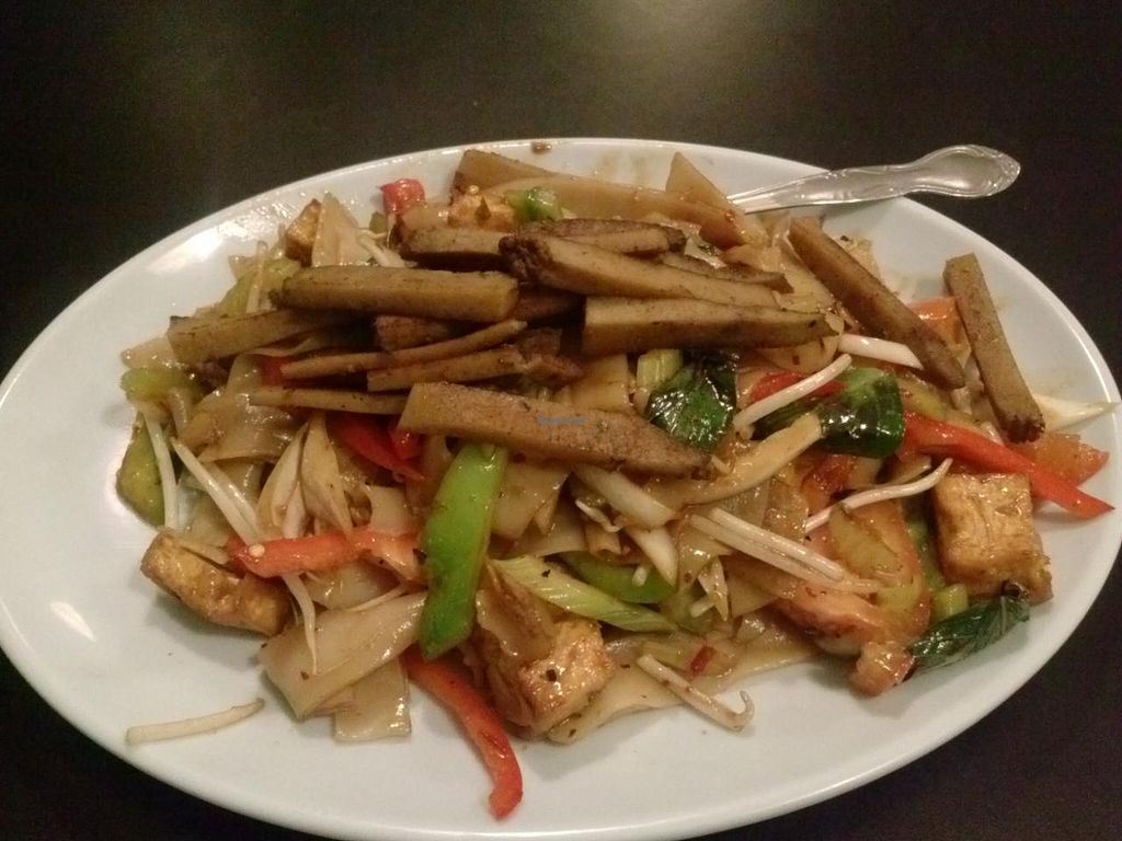 """Photo of CLOSED: The Vegan Joint - Hollywood  by <a href=""""/members/profile/Sonja%20and%20Dirk"""">Sonja and Dirk</a> <br/>mint noodles with seitan <br/> May 2, 2014  - <a href='/contact/abuse/image/35252/69147'>Report</a>"""