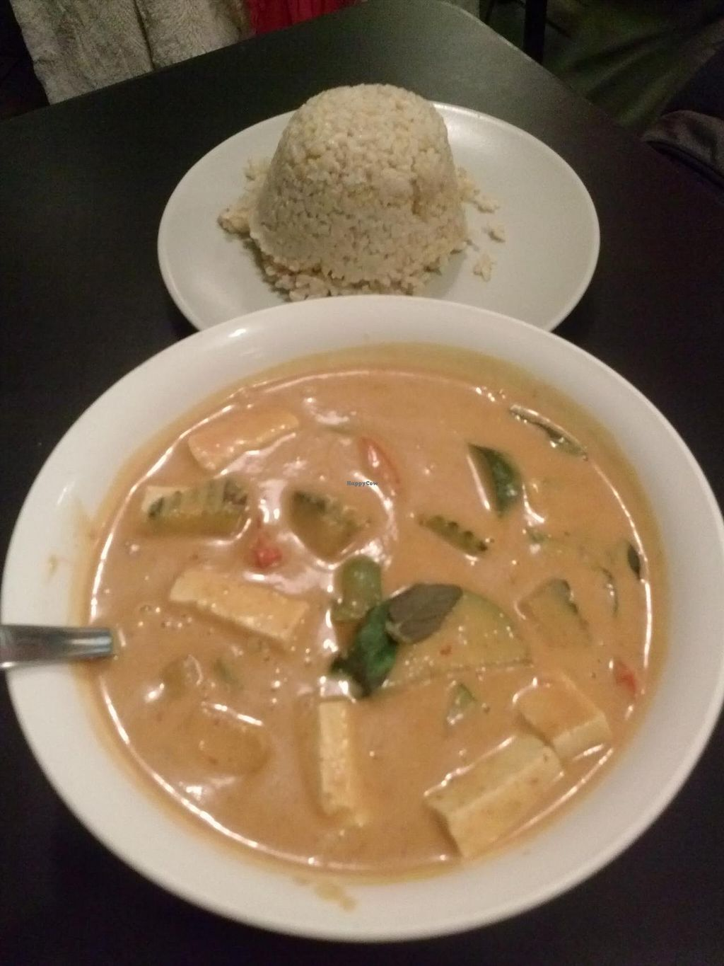 """Photo of CLOSED: The Vegan Joint - Hollywood  by <a href=""""/members/profile/Sonja%20and%20Dirk"""">Sonja and Dirk</a> <br/>pumpkin curry <br/> May 2, 2014  - <a href='/contact/abuse/image/35252/69148'>Report</a>"""