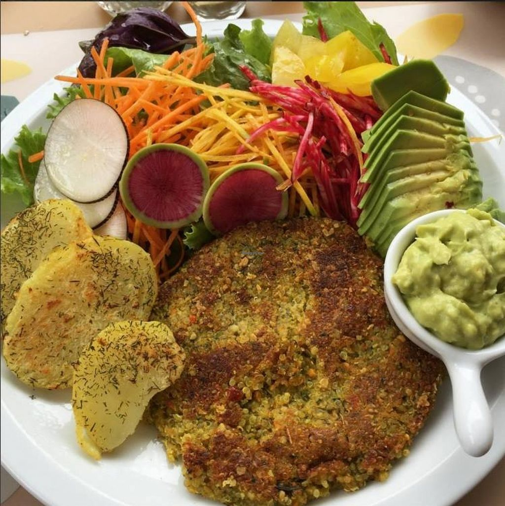 """Photo of Yami  by <a href=""""/members/profile/Gianni777"""">Gianni777</a> <br/>For starter I ordered Causa and then a delicious Quinoa burger with native potatoes and salad <br/> December 16, 2015  - <a href='/contact/abuse/image/35261/128753'>Report</a>"""