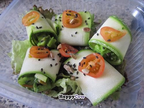 """Photo of Yami  by <a href=""""/members/profile/Eloy7"""">Eloy7</a> <br/>Zucchini rolls stuffed with fresh vegetables in pesto dressing <br/> July 17, 2013  - <a href='/contact/abuse/image/35261/51408'>Report</a>"""