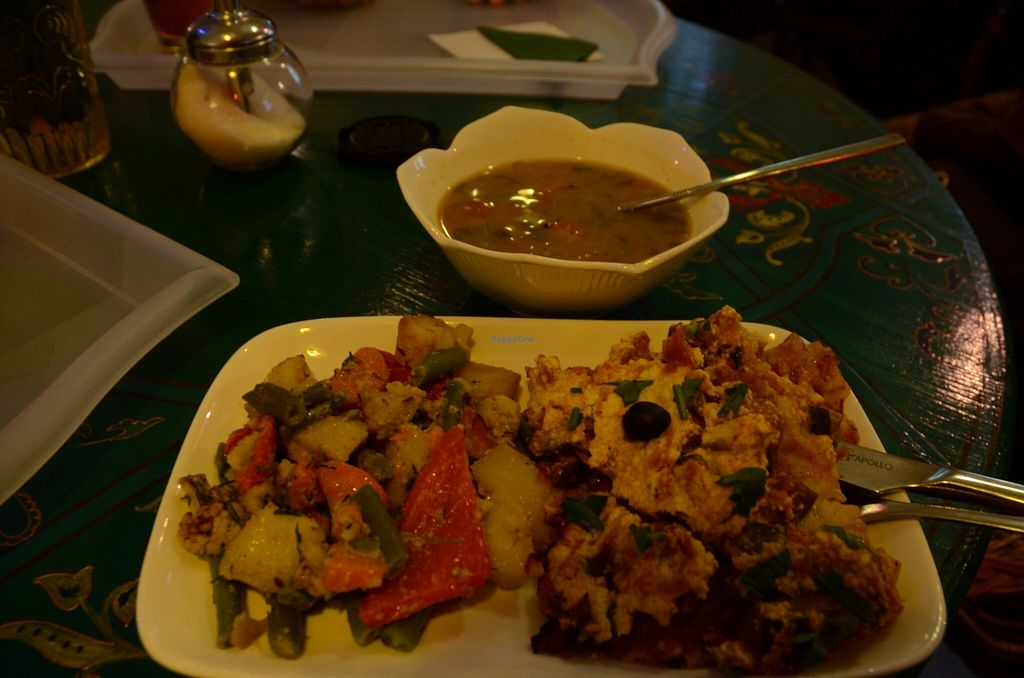 """Photo of Samadeva  by <a href=""""/members/profile/Ciad"""">Ciad</a> <br/>Roasted veggies, Lasagna, Soup <br/> February 20, 2016  - <a href='/contact/abuse/image/35294/137123'>Report</a>"""