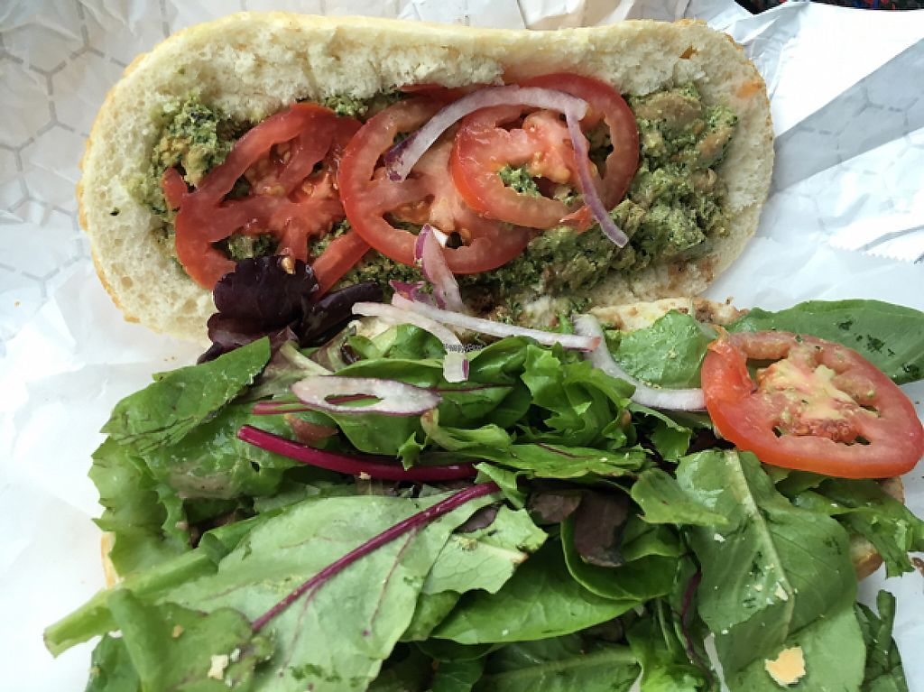 "Photo of Buds  by <a href=""/members/profile/Veg4Jay"">Veg4Jay</a> <br/>Pesto Sandwich <br/> November 28, 2016  - <a href='/contact/abuse/image/35324/195437'>Report</a>"