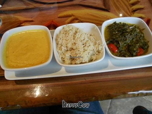 """Photo of Sanaa  by <a href=""""/members/profile/glassesgirl79"""">glassesgirl79</a> <br/>Stewed lentils, Basmati rice, and mixed seasonal greens with tomatoes <br/> November 19, 2012  - <a href='/contact/abuse/image/35367/40467'>Report</a>"""